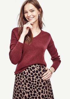 Ann Taylor V-Neck Tunic Sweater