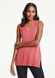 Ann Taylor V-Neck Tunic Sweater Shell