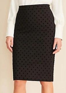 Ann Taylor Velvet Dot Pencil Skirt