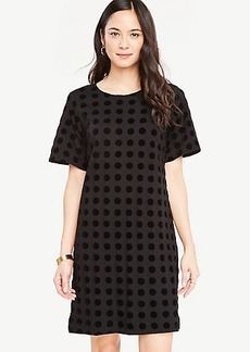 Velvet Dot T-Shirt Dress
