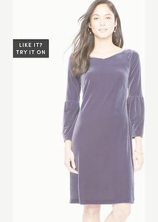 Velvet Double V Shift Dress