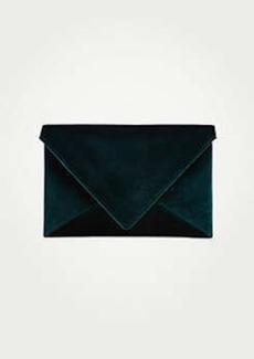 Ann Taylor Velvet Envelope Clutch