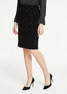 Ann Taylor Velvet Spotted Pencil Skirt