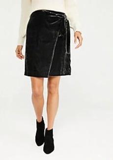 Ann Taylor Velvet Tie Waist Wrap Skirt