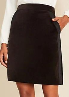Ann Taylor Velvet Tuxedo Skirt