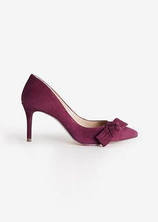Violetta Suede Bow Pumps