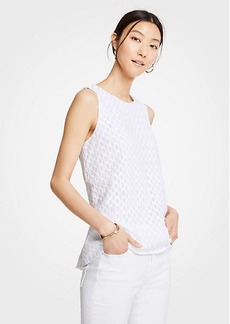 Ann Taylor Wave Embroidered Swing Tank