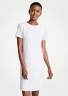 Ann Taylor Wavy Embroidery Shift Dress