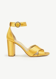 Whitney Satin Block Heel Sandals