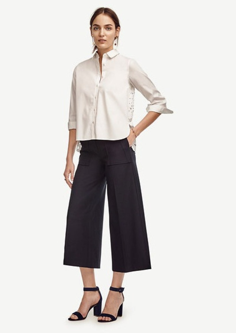 Ann Taylor Wide Leg Ankle Pants