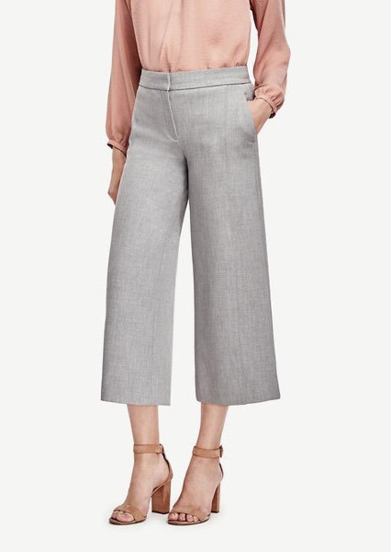 Ann Taylor Wide Leg Crop Pants