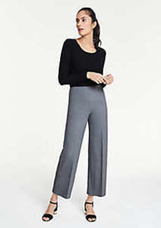 Ann Taylor The Wide-Leg Knit Crop Pant