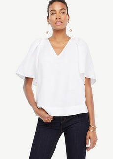 Wide Sleeve V-Neck Top