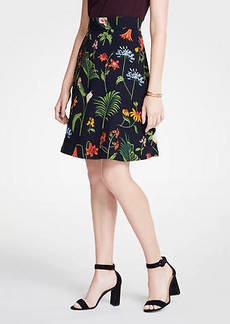 Ann Taylor Wild Botanical Flare Skirt