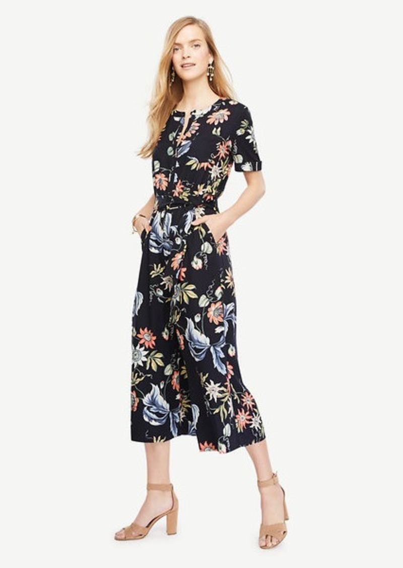 Ann Taylor Wild Flower Culotte Jumpsuit