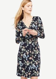 Ann Taylor Wild Flower Wrap Dress