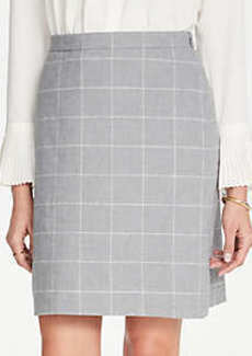 Ann Taylor Windowpane A-Line Skirt