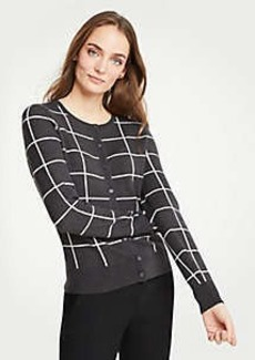 Ann Taylor Windowpane Ann Cardigan