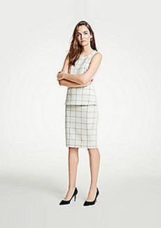 Ann Taylor Windowpane Knit Pencil Skirt