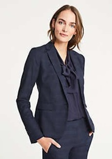 Ann Taylor Windowpane One Button Blazer