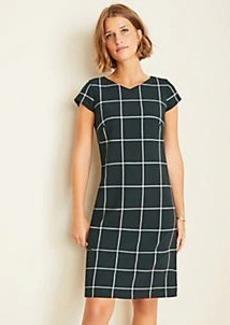 Ann Taylor Windowpane Shift Dress