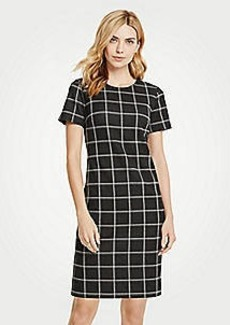 Ann Taylor Windowpane T-Shirt Dress