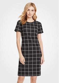 Ann Taylor Windowpane T-Shirt Dress