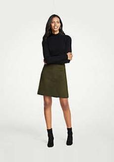 Ann Taylor Wool Blend A-Line Skirt