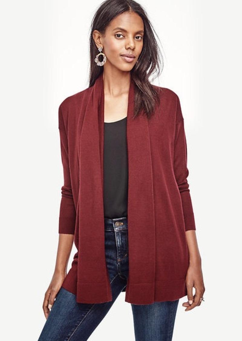 Ann Taylor Wool Blend Open Cardigan | Sweaters - Shop It To Me