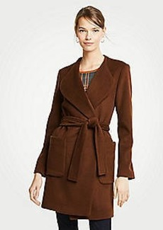Ann Taylor Wool Blend Wrap Coat