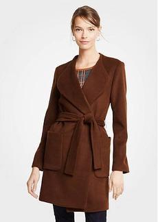 Ann Taylor Wool Blend Wrap Coat