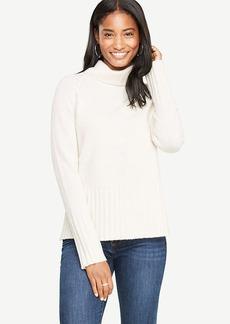Ann Taylor Wool Cashmere Turtleneck Sweater