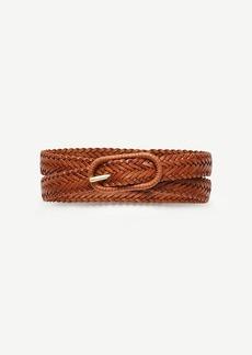 Ann Taylor Woven Skinny Leather Belt