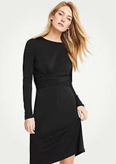 Ann Taylor Wrap Matte Jersey Dress