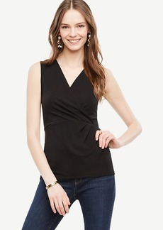 Ann Taylor Wrap V-Neck Shell