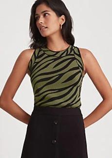 Ann Taylor Zebra Print Halter Sweater Shell