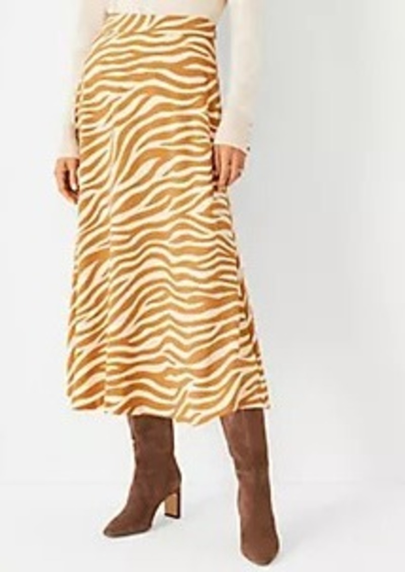 Ann Taylor Zebra Print Midi Skirt