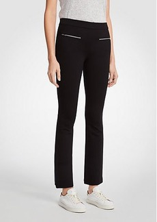 Ann Taylor Zip Pocket Kick Crop Leggings