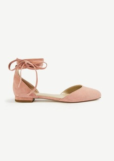 Zuri Suede Almond Toe Flats