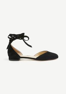 Ann Taylor Zuri Suede Almond Toe Flats