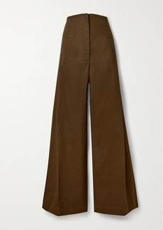 Anna Mason Beau Cotton-drill Wide-leg Pants