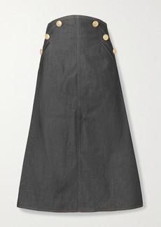 Anna Mason Ruth Embellished Denim Midi Skirt