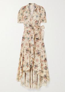 Anna Mason Stella Floral-print Cotton-poplin Wrap Dress