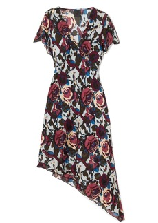Anna Sui Birds and Roses printed silk-chiffon dress