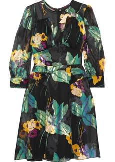 Anna Sui Blithe Spirit fil coupé silk-blend chiffon mini dress