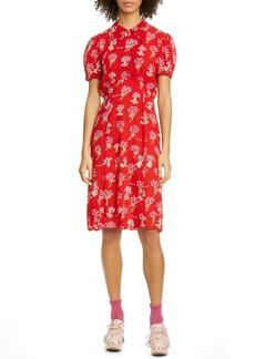 Anna Sui Bérard Faces Print Dress