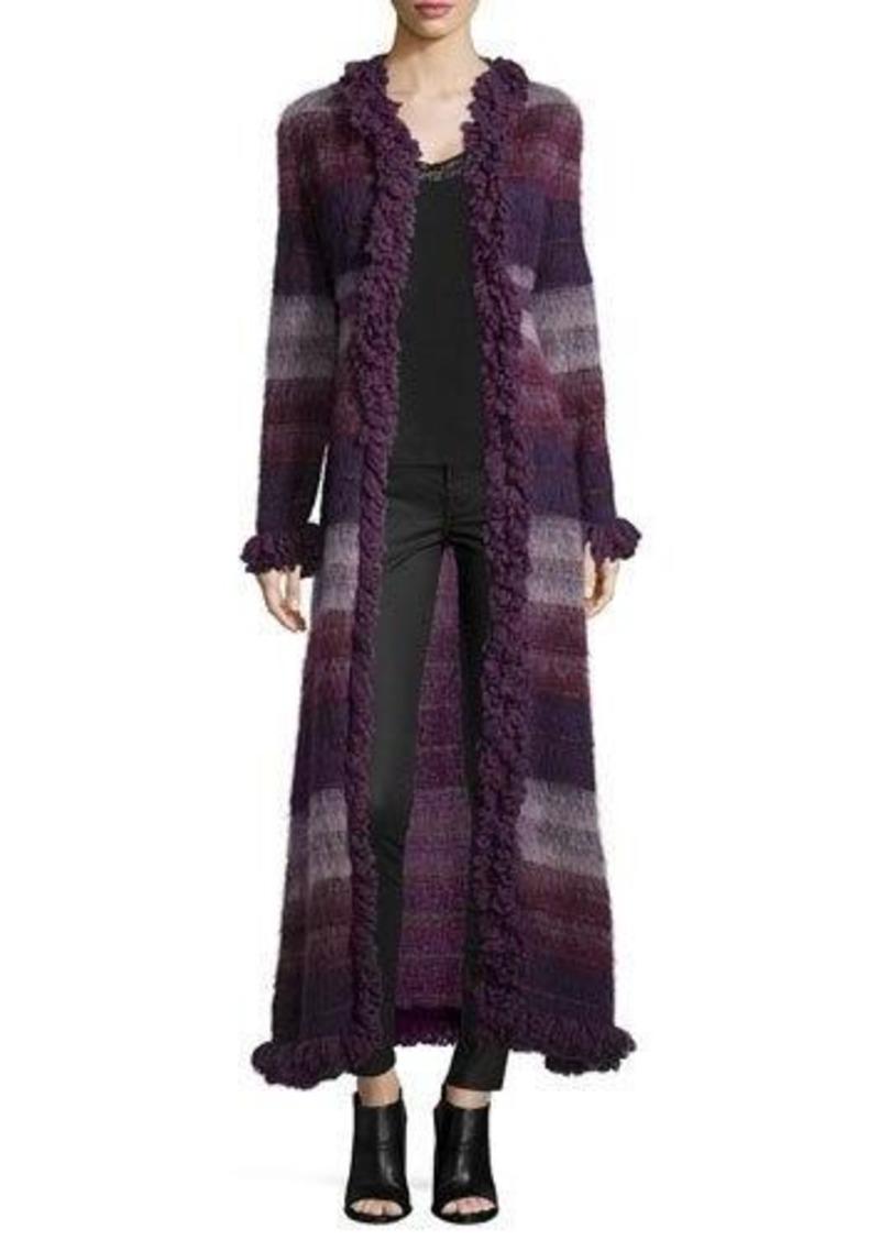 Anna Sui Brushed Wool Long Gauze Coat