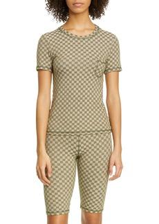 Anna Sui Checkered Knit T-Shirt
