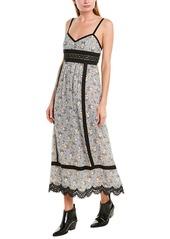 Anna Sui Daisy Dots Maxi Dress