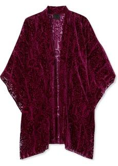 Anna Sui Fairy Fields devoré-chiffon kimono